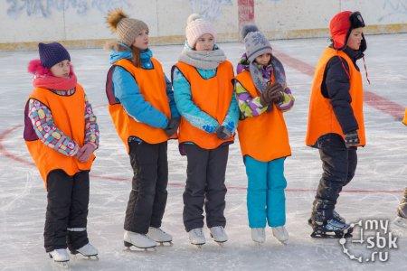 Участники ледовой эстафеты